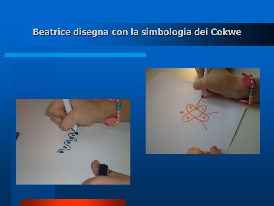 Beatrice disegna con la simbologia dei Cokwe