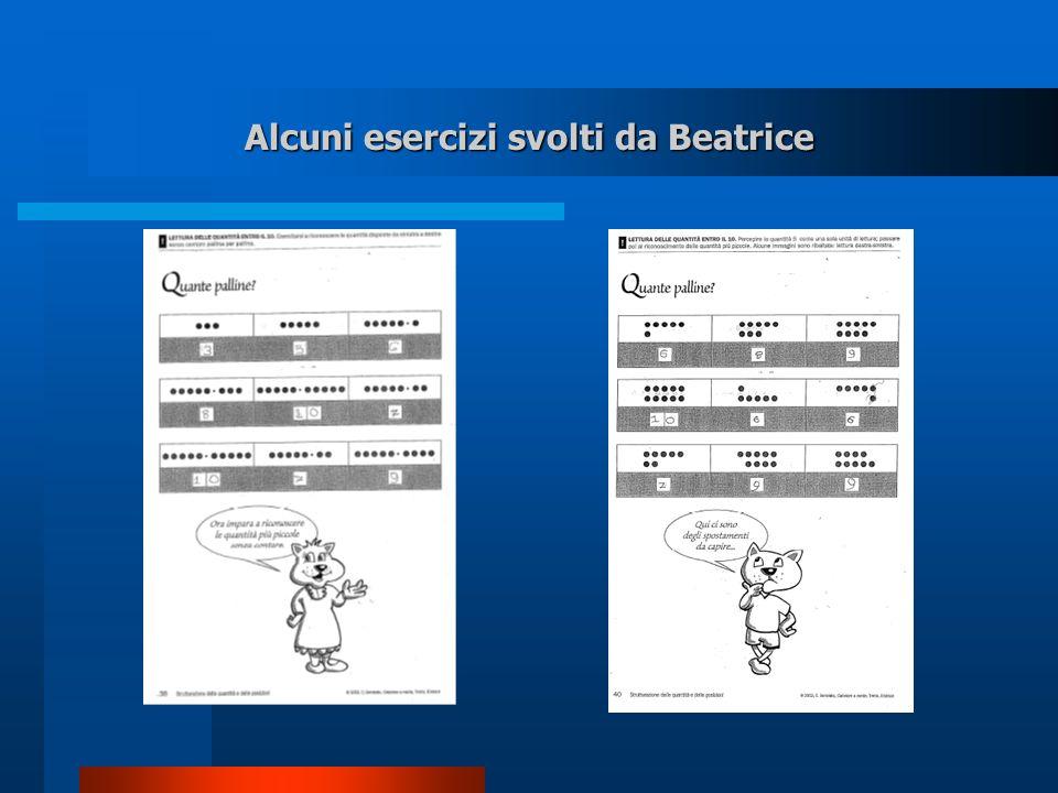 Alcuni esercizi svolti da Beatrice