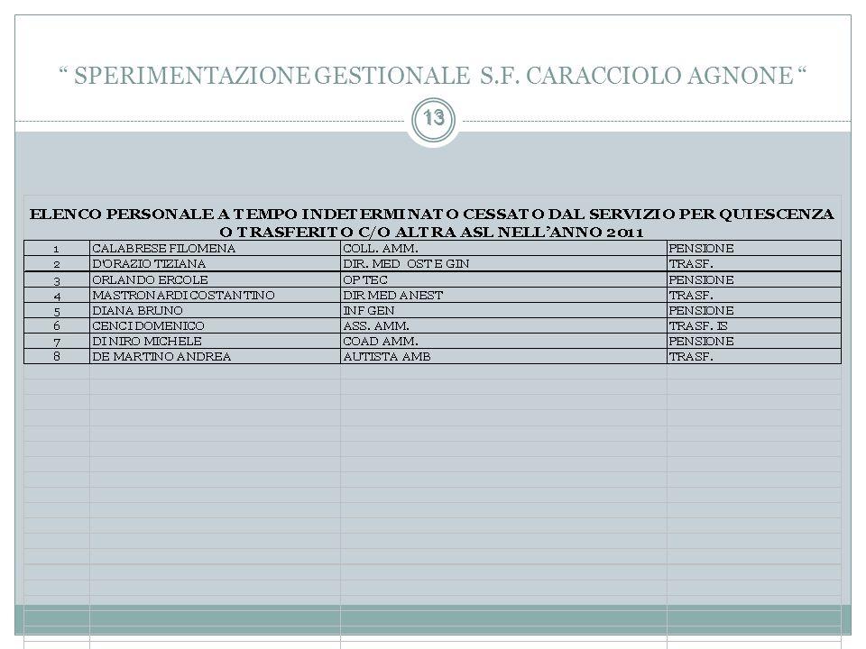 13 SPERIMENTAZIONE GESTIONALE S.F. CARACCIOLO AGNONE 13