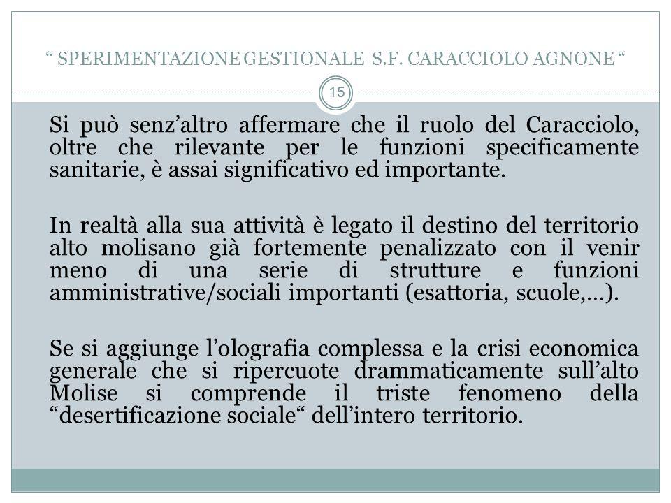 15 Si può senzaltro affermare che il ruolo del Caracciolo, oltre che rilevante per le funzioni specificamente sanitarie, è assai significativo ed importante.