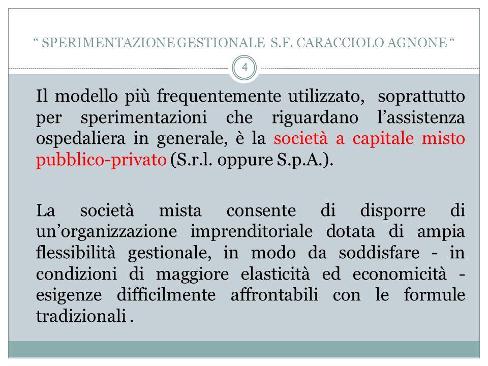 4 4 SPERIMENTAZIONE GESTIONALE S.F.