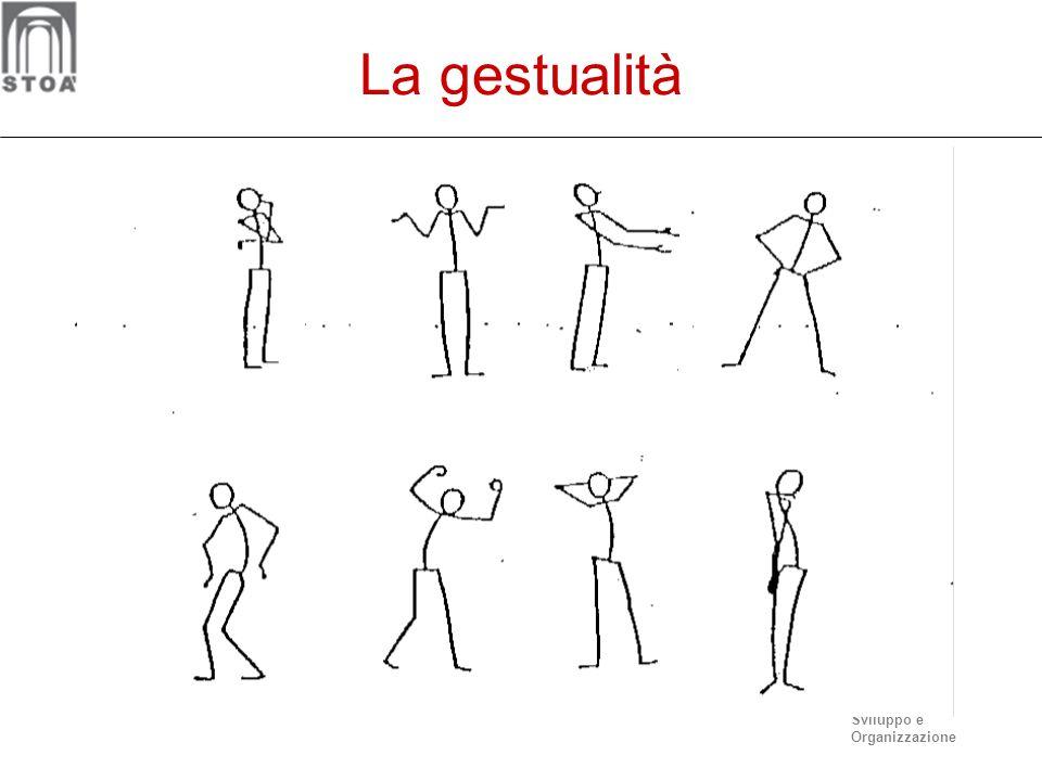 Sviluppo e Organizzazione I gesti Secondo Ekman e Friesen (1967) esistono 5 categorie di segnali non verbali: I gesti simbolici o emblemi: hanno la ca