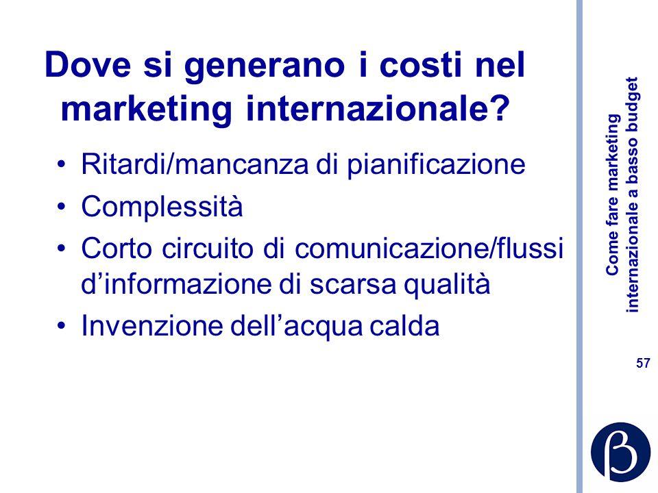 Come fare marketing internazionale a basso budget 56 91 discutibili [mini]tesi 1 Il marketing è morto in quanto sono esaurite le due condizioni che lo