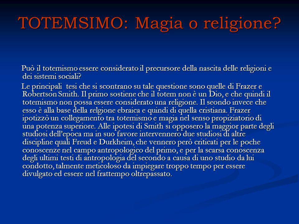 TOTEMSIMO: Magia o religione? Può il totemismo essere considerato il precursore della nascita delle religioni e dei sistemi sociali? Può il totemismo