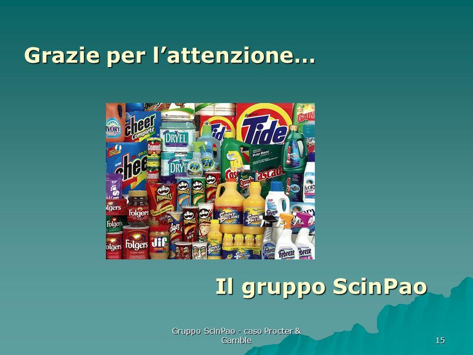 Gruppo ScinPao - caso Procter & Gamble 15 Grazie per lattenzione… Il gruppo ScinPao