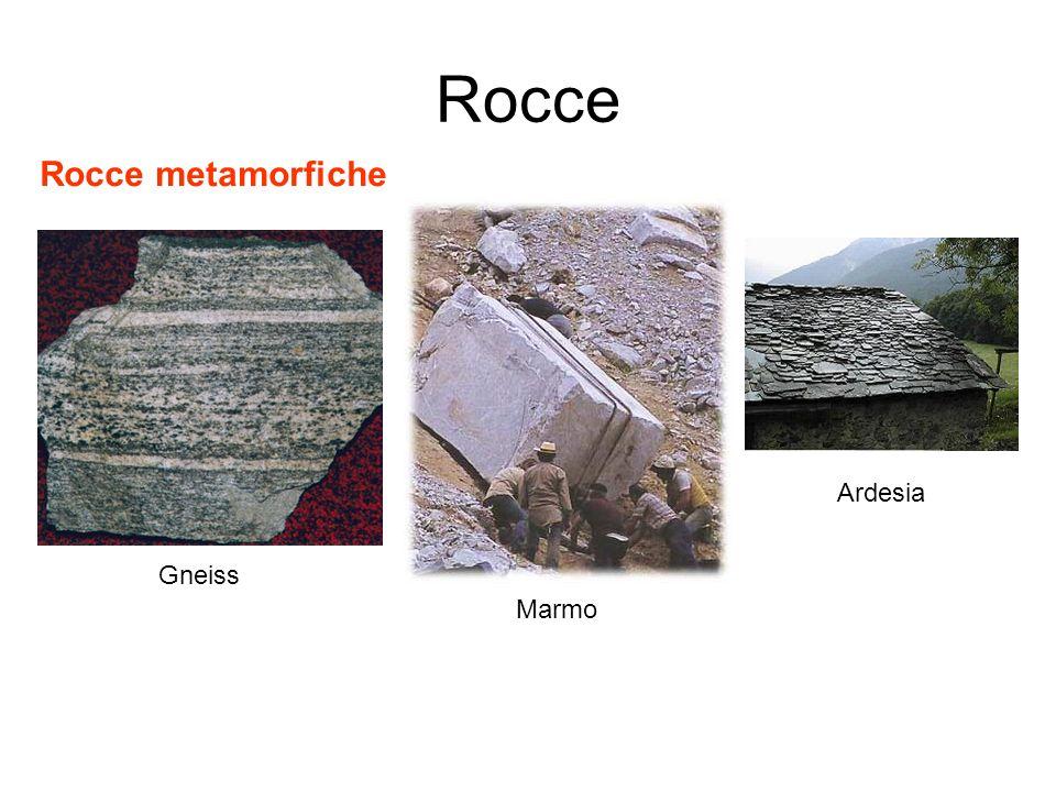 Rocce Rocce metamorfiche Gneiss Marmo Ardesia