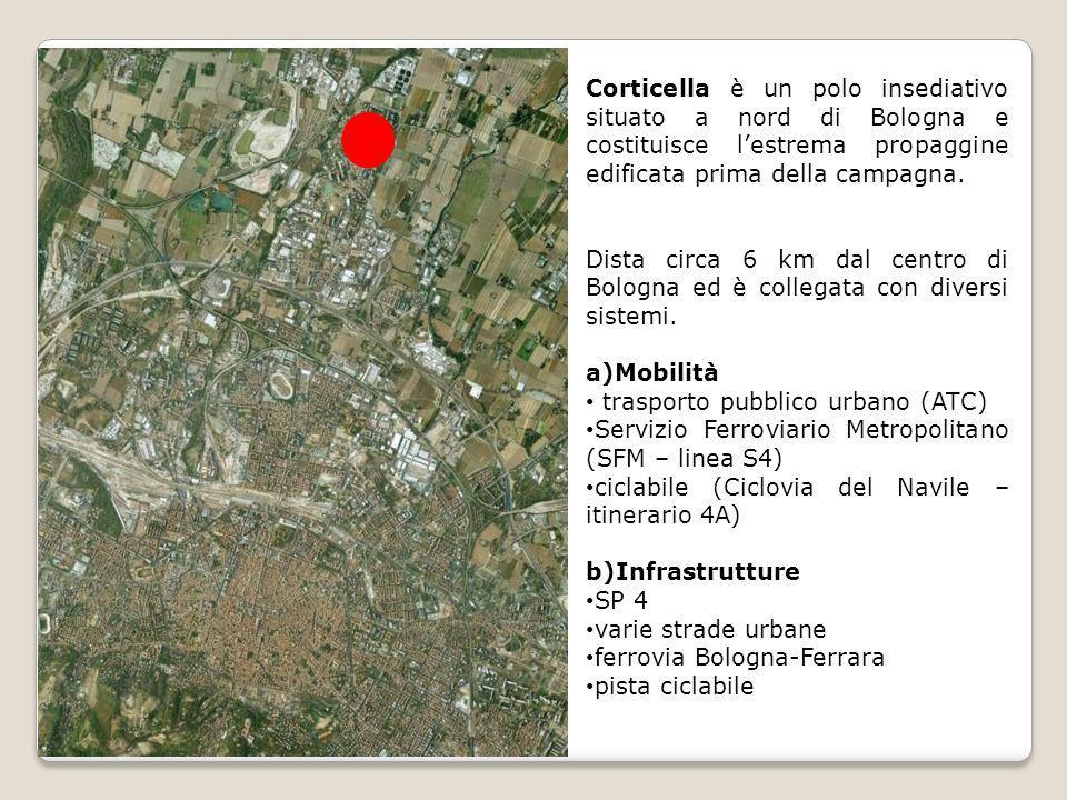 Corticella è un polo insediativo situato a nord di Bologna e costituisce lestrema propaggine edificata prima della campagna. Dista circa 6 km dal cent