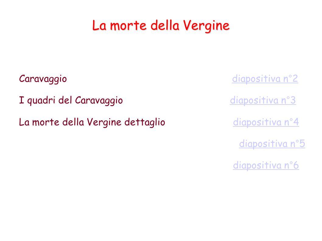 La morte della Vergine Caravaggio diapositiva n°2diapositiva n°2 I quadri del Caravaggio diapositiva n°3diapositiva n°3 La morte della Vergine dettagl
