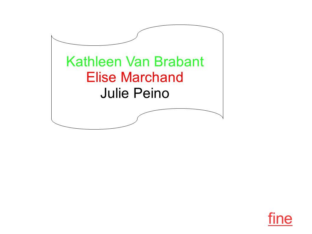 fine Kathleen Van Brabant Elise Marchand Julie Peino