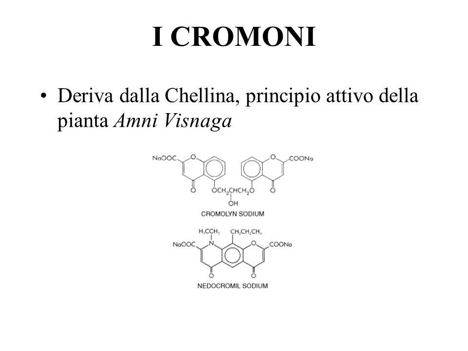 I CROMONI Deriva dalla Chellina, principio attivo della pianta Amni Visnaga