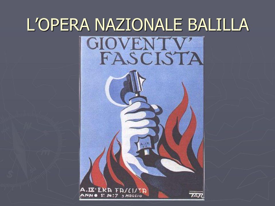 LOPERA NAZIONALE BALILLA