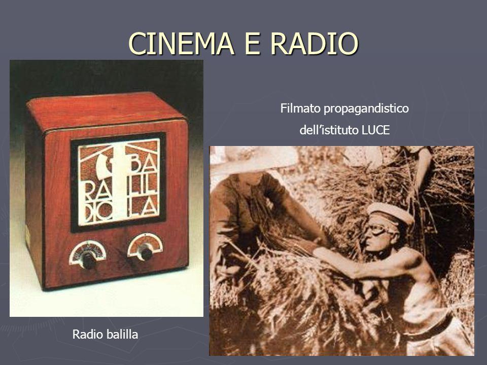 CINEMA E RADIO Radio balilla Filmato propagandistico dellistituto LUCE