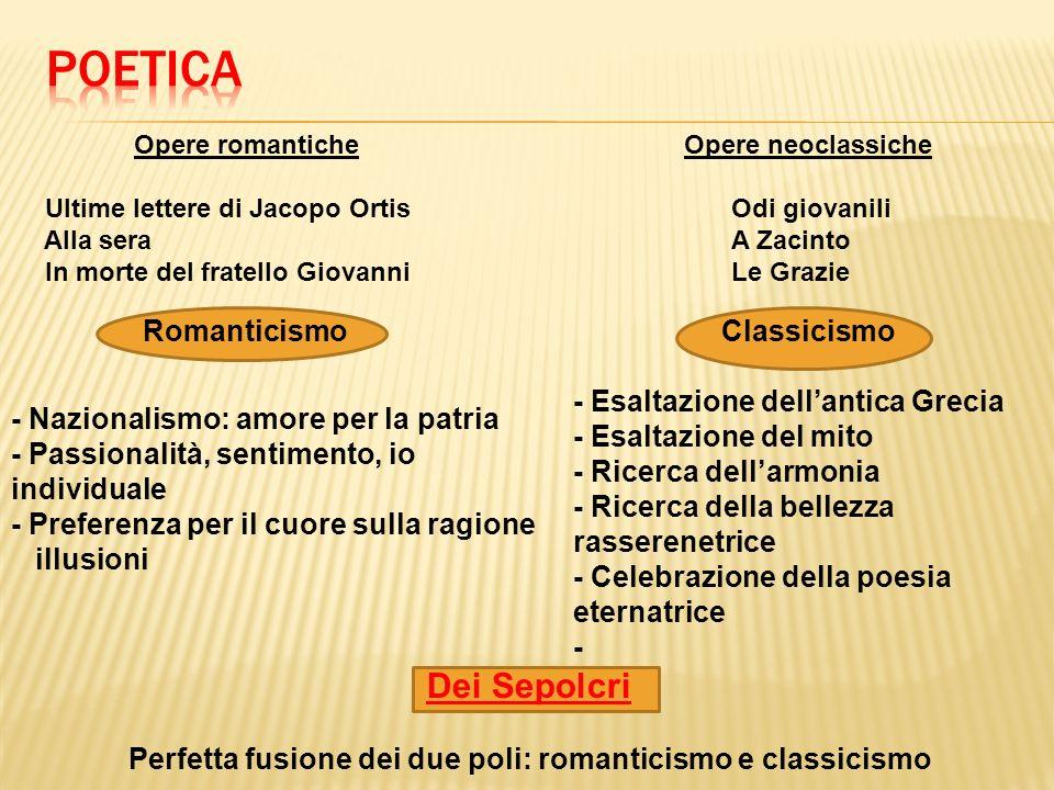 Si abbinano più generi: 1.Epistola in versi: dedicata in epigrafe ad Ippolito Pindemonte 2.