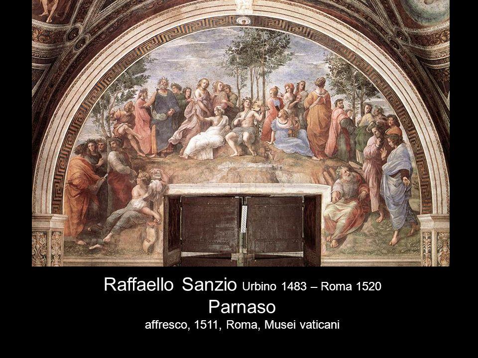 Raffaello Sanzio Urbino 1483 – Roma 1520 Parnaso affresco, 1511, Roma, Musei vaticani