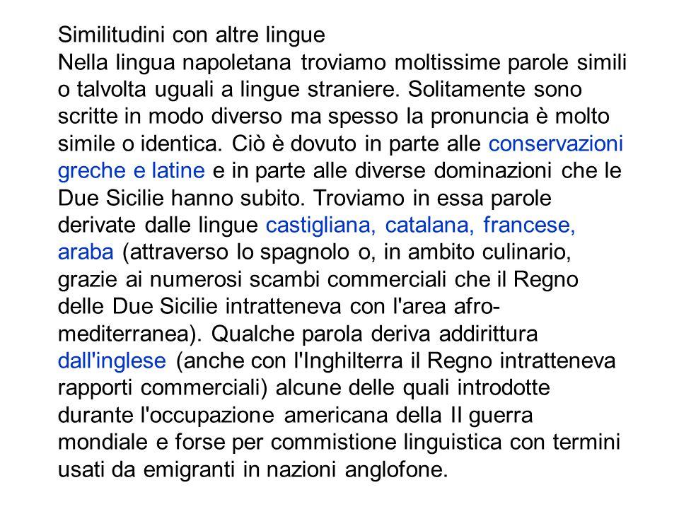 Altri errori comuni, dovuti a somiglianze solo apparenti con l italiano, riguardano l uso errato del rafforzamento sintattico, che segue, rispetto all italiano, regole proprie e molto diverse, e la pronuncia di vocali chiuse invece che aperte, o viceversa, l arbitraria interpretazione di alcuni suoni.
