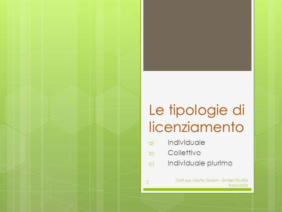 Licenziamento individuale 3 I LIMITI SOSTANZIALI: giusta causa e giustificato motivo I RIMEDI in caso di licenziamento illegittimo: Il pagamento di una somma di denaro da parte del datore di lavoro (cd.