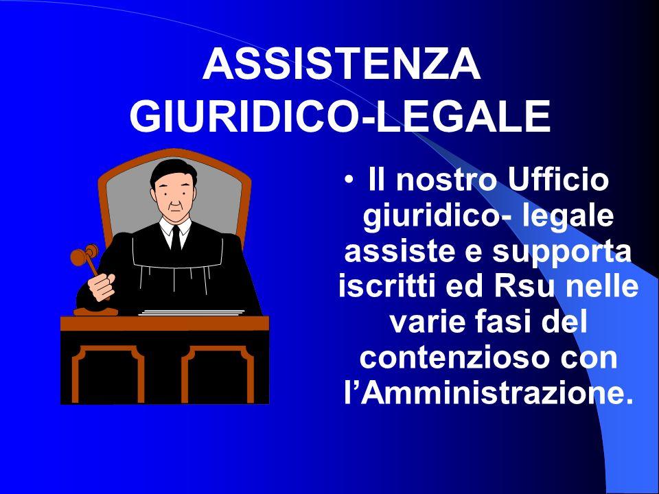 Il nostro Ufficio giuridico- legale assiste e supporta iscritti ed Rsu nelle varie fasi del contenzioso con lAmministrazione.