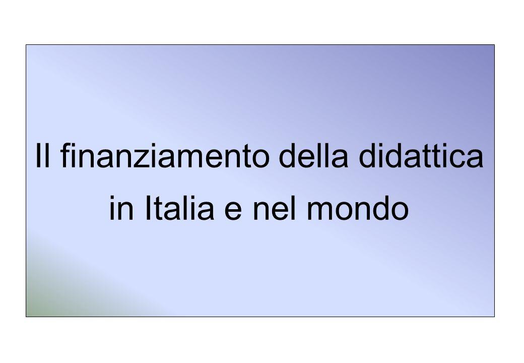 Il finanziamento della didattica in Italia e nel mondo