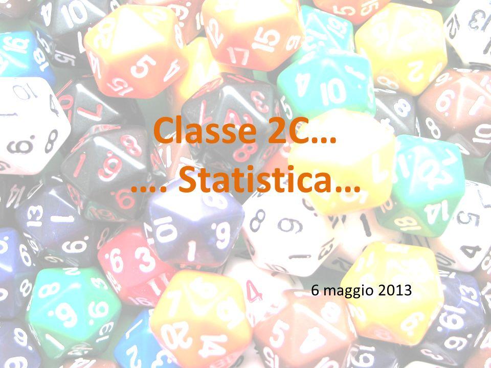 Classe 2C… …. Statistica… 6 maggio 2013