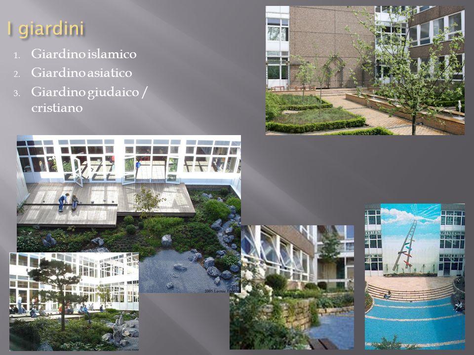 I giardini 1. Giardino islamico 2. Giardino asiatico 3. Giardino giudaico / cristiano
