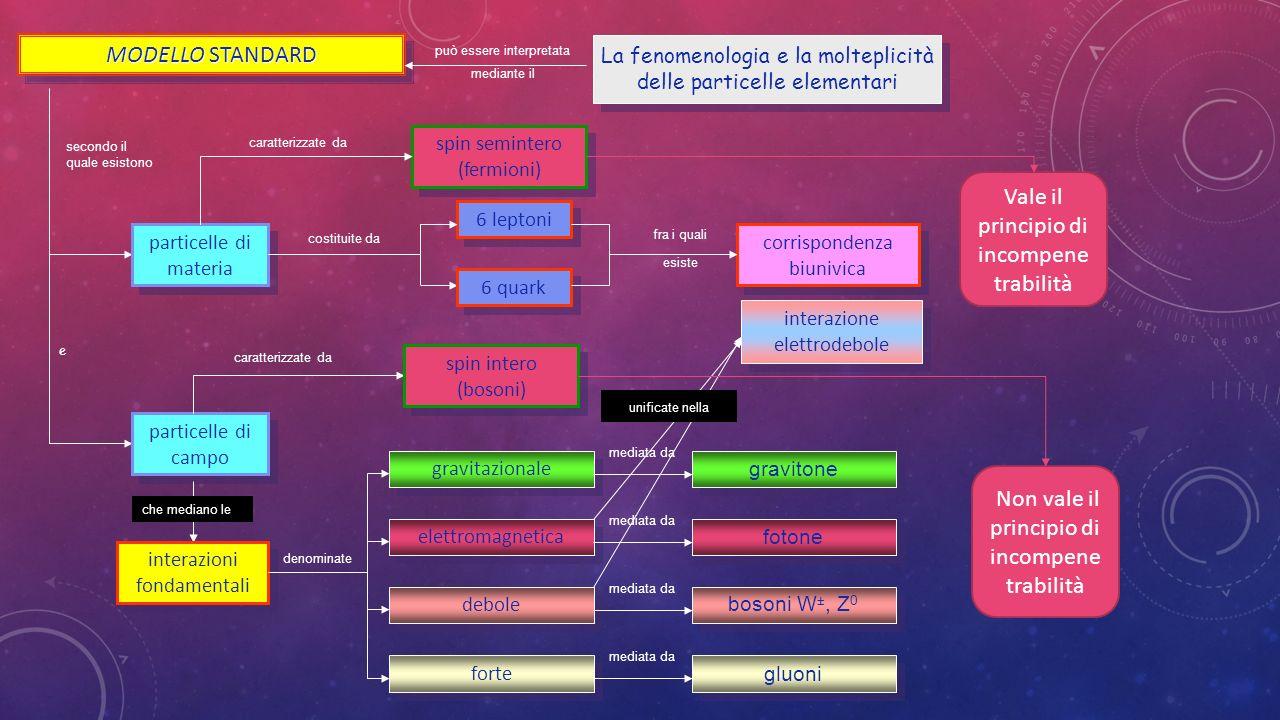 La fenomenologia e la molteplicità delle particelle elementari La fenomenologia e la molteplicità delle particelle elementari può essere interpretata