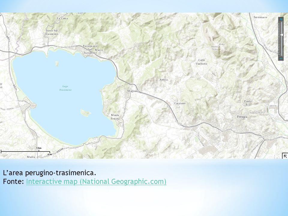 Larea perugino-trasimenica. Fonte: Interactive map (National Geographic.com)Interactive map (National Geographic.com)