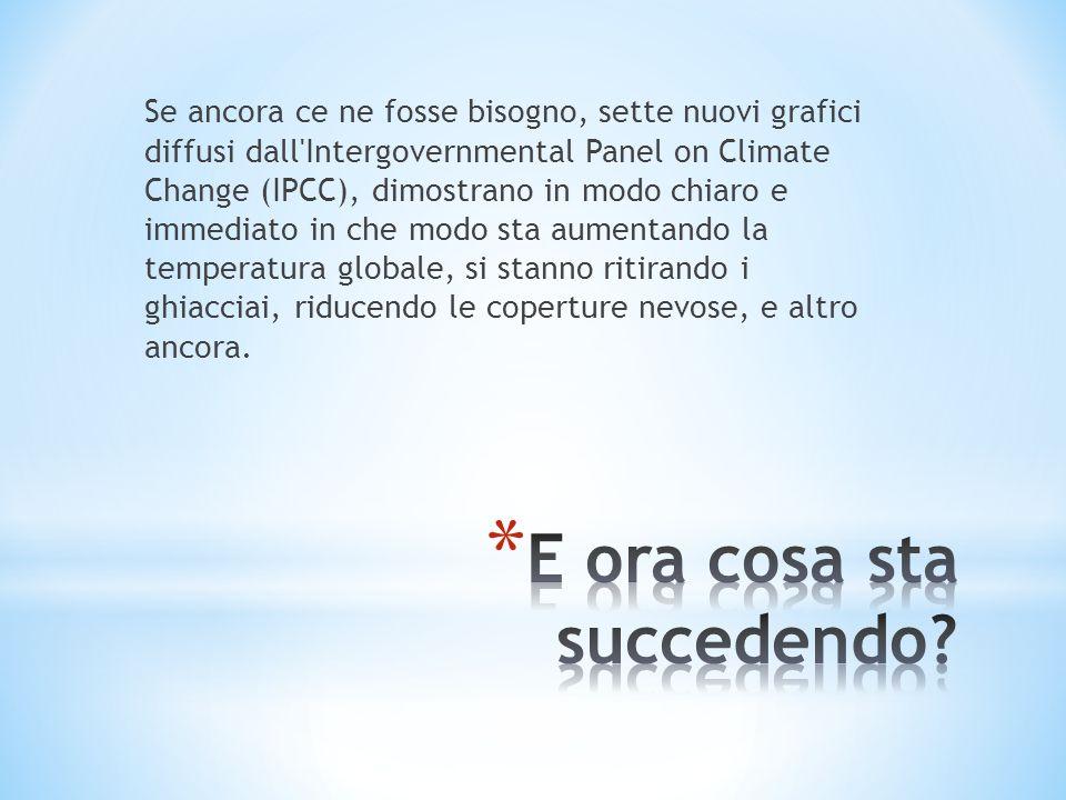 Se ancora ce ne fosse bisogno, sette nuovi grafici diffusi dall'Intergovernmental Panel on Climate Change (IPCC), dimostrano in modo chiaro e immediat