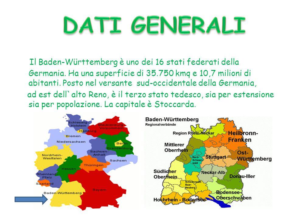 Il Baden-Württemberg è uno dei 16 stati federati della Germania. Ha una superficie di 35.750 kmq e 10,7 milioni di abitanti. Posto nel versante sud-oc