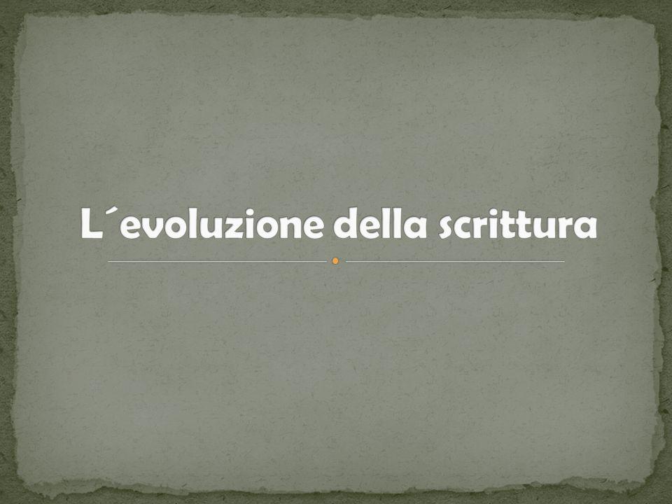 Indice I.Origine della scrittura II.