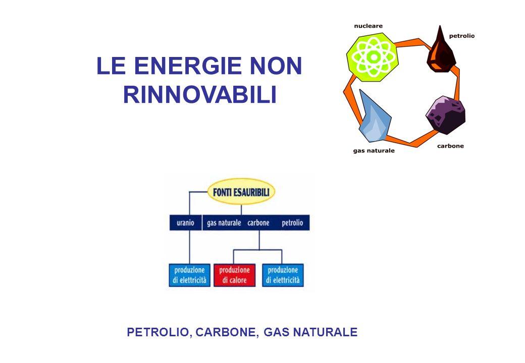 LE ENERGIE NON RINNOVABILI PETROLIO, CARBONE, GAS NATURALE