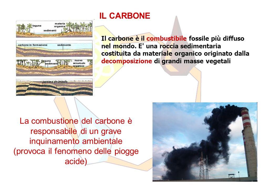 IL CARBONE Il carbone è il combustibile fossile più diffuso nel mondo.