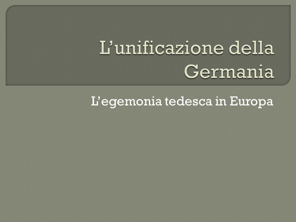 Legemonia tedesca in Europa