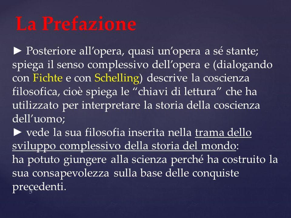 5 La Prefazione Posteriore allopera, quasi unopera a sé stante; spiega il senso complessivo dellopera e (dialogando con Fichte e con Schelling) descri