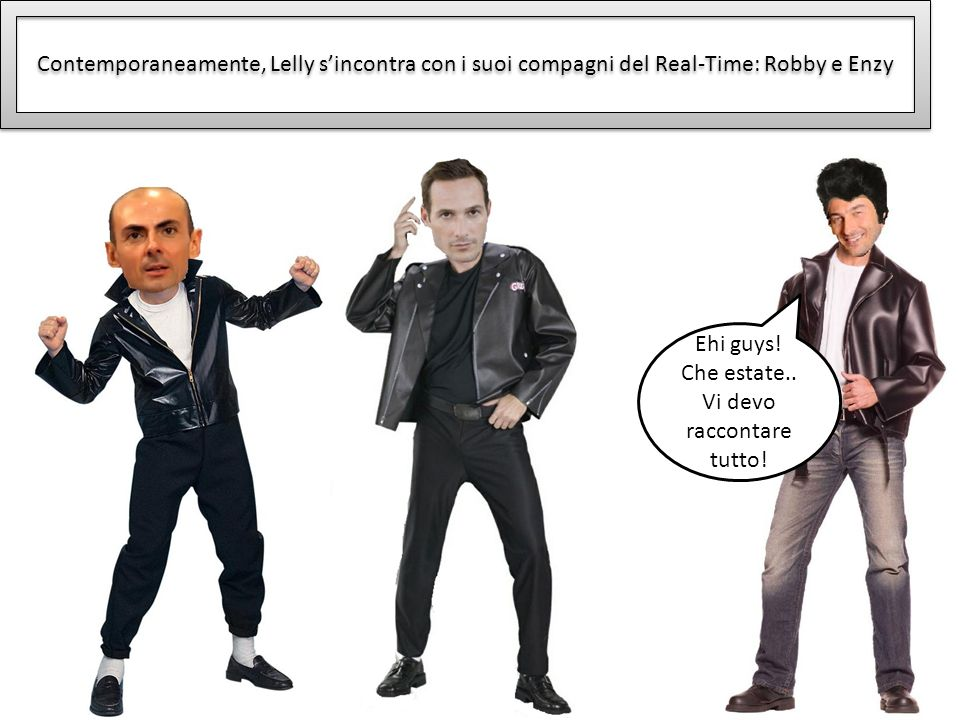 Contemporaneamente, Lelly sincontra con i suoi compagni del Real-Time: Robby e Enzy Ehi guys.