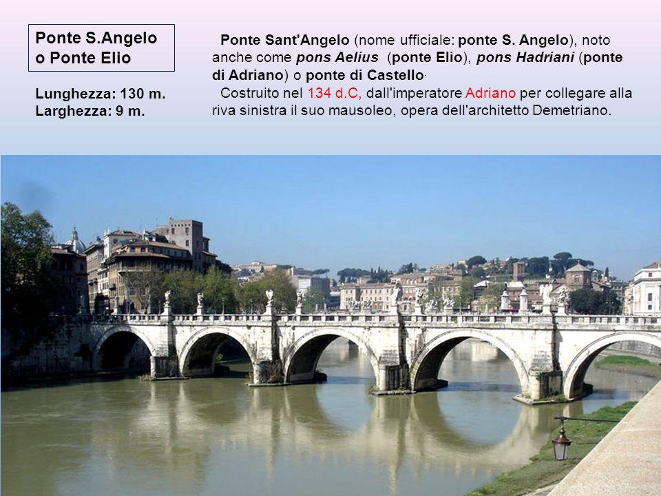 Ruderi del Ponte Neroniano o Ponte Trionfale Ne sono visibili oggi scarsi resti che affiorano durante le magre del fiume presso l'attuale ponte Vittor