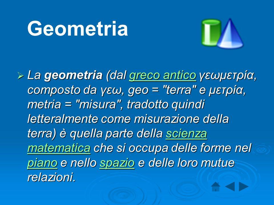 La geometria (dal greco antico γεωμετρία, composto da γεω, geo =