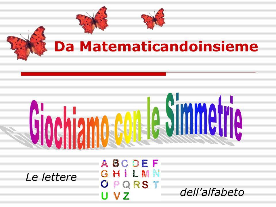 Da Matematicandoinsieme Le lettere dellalfabeto