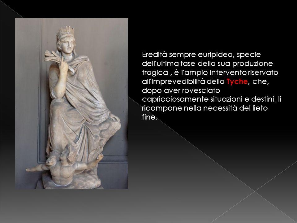 Prima dellallegro scioglimento, Menandro propone un momento di patetismo molto gradito dagli spettatori greci.