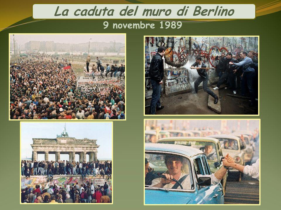 La caduta del muro di Berlino 9 novembre 1989
