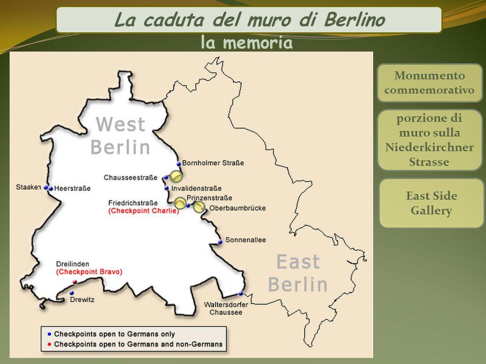 La caduta del muro di Berlino la memoria Monumento commemorativo porzione di muro sulla Niederkirchner Strasse East Side Gallery