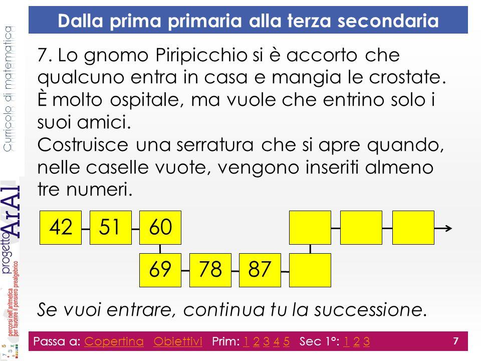 7. Lo gnomo Piripicchio si è accorto che qualcuno entra in casa e mangia le crostate.