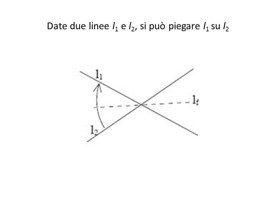 Date due linee l 1 e l 2, si può piegare l 1 su l 2