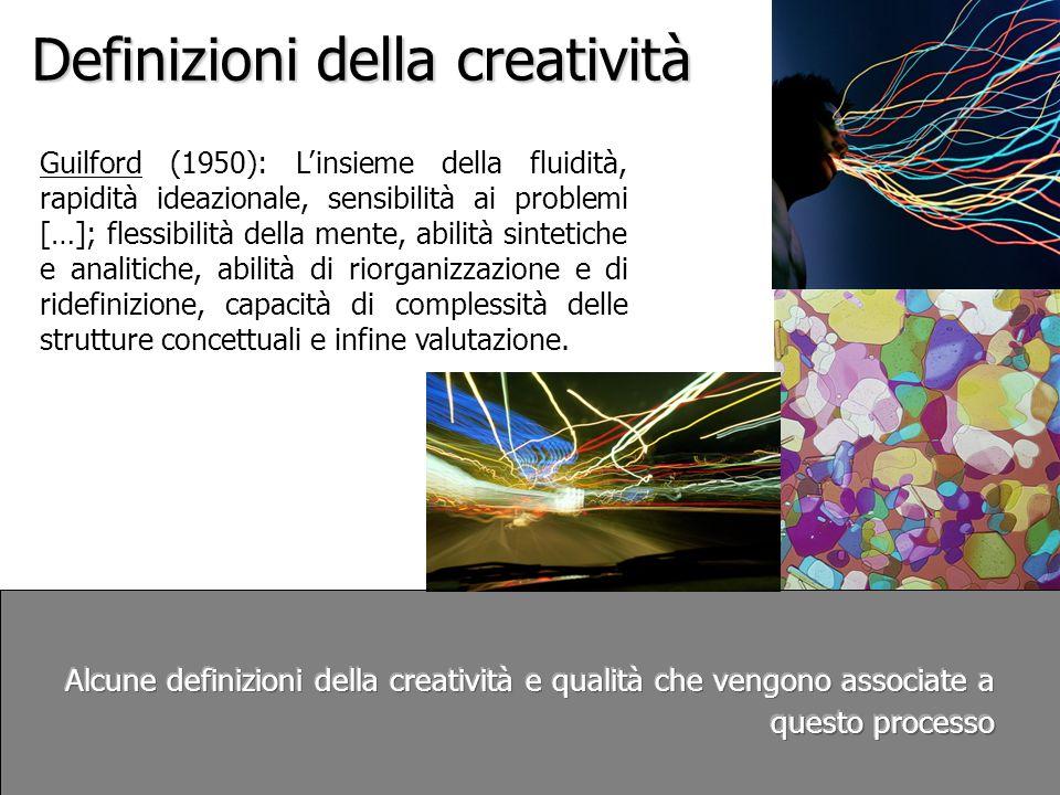 Definizioni della creatività Sternberg e Lubart (1996) per i quali la creatività consiste fondamentalmente nella capacità di produrre qualcosa di nuovo (originale, inatteso) e appropriato (utile, adattabile al compito prefissato).