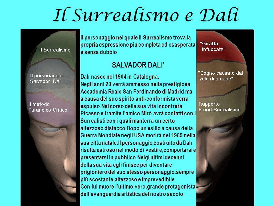 Il Surrealismo e Dalì Il personaggio nel quale il Surrealismo trova la propria espressione più completa ed esasperata è senza dubbio SALVADOR DALI Dal