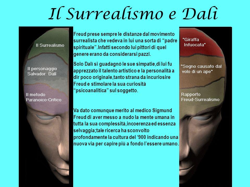 Il Surrealismo e Dalì Freud prese sempre le distanze dal movimento surrealista che vedeva in lui una sorta di padre spirituale.Infatti secondo lui pit
