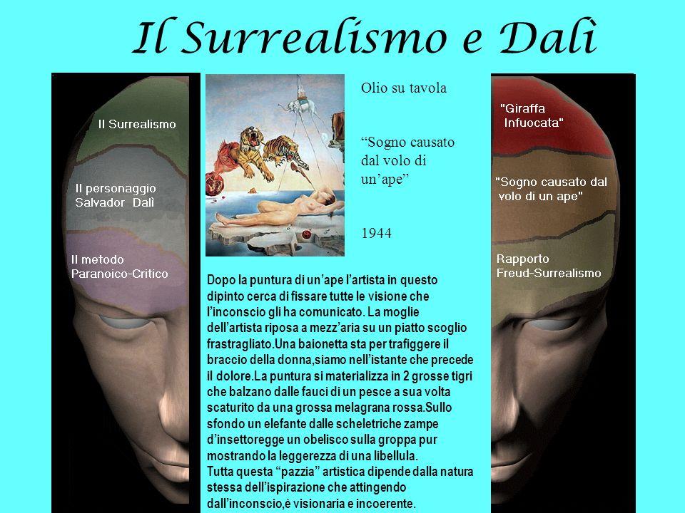 Il Surrealismo e Dalì Olio su tavola Sogno causato dal volo di unape 1944 Dopo la puntura di unape lartista in questo dipinto cerca di fissare tutte l