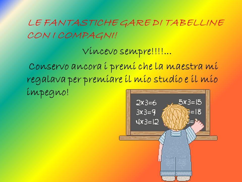 LE FANTASTICHE GARE DI TABELLINE CON I COMPAGNI.Vincevo sempre!!!!...