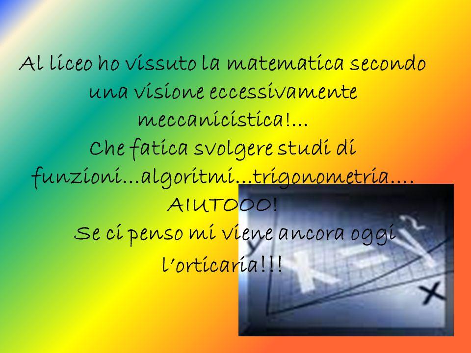 Per concludere… E STUPEFACENTE come la natura si esprima perfettamente in linguaggio matematico.
