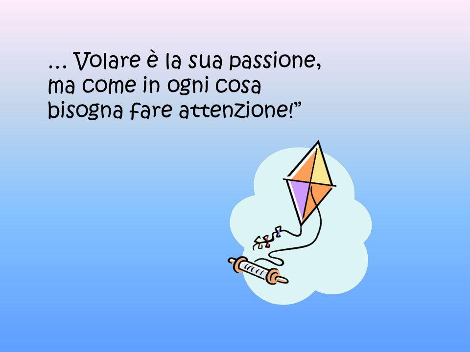 … Volare è la sua passione, ma come in ogni cosa bisogna fare attenzione!
