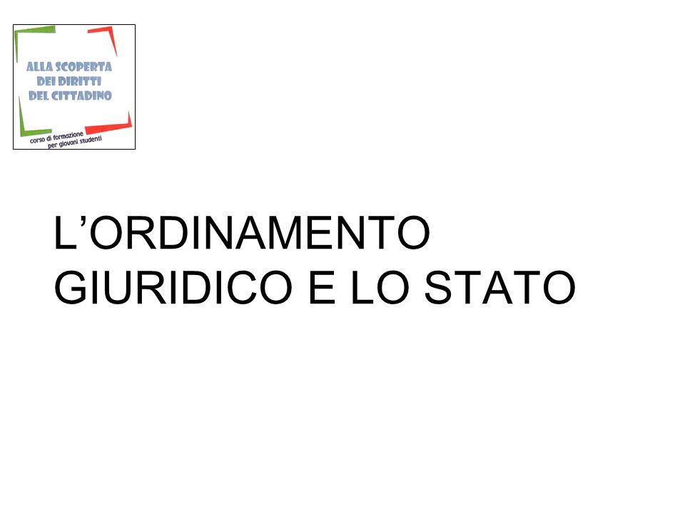 LORDINAMENTO GIURIDICO E LO STATO